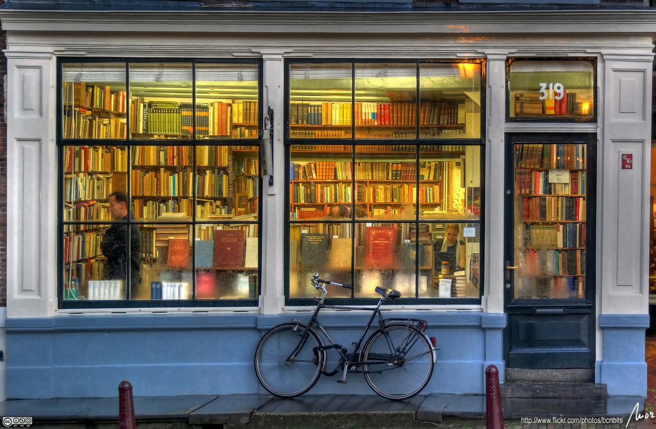 Photo of a bookstore in Amsterdam